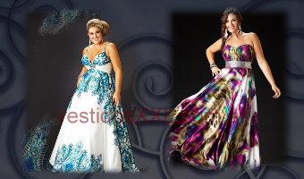 Vestidos de fiesta largos talles especiales